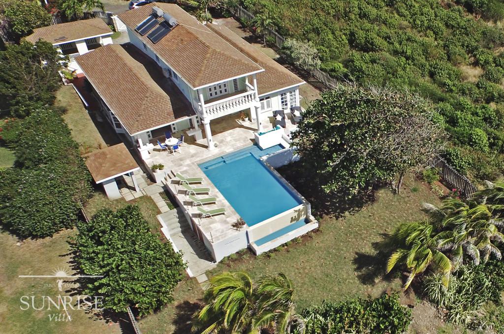 Sunrise Villa Grenada Aerial View